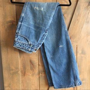 Calvin Klein vintage distressed boyfriend jeans
